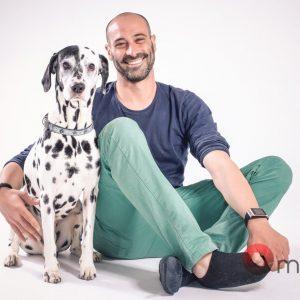 Sesión de fotos en estudio con mascotas
